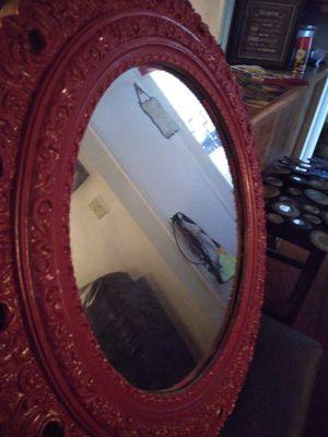 Beautiful Red Round Mirror..$35 for Sale in Chesapeake, VA