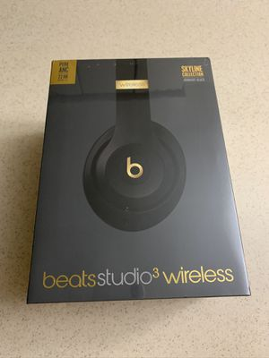 Beats by Dr. Dre Studio3 Wireless Headphones - Skyline Collection Midnight Black NEW SEALED for Sale in Troy, MI