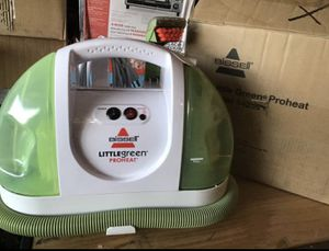 Bissell little Green Pro heat portable. Carpet and upholstery cleaner shampooer with built in hot water heater like new open box excellent conditio for Sale in Las Vegas, NV