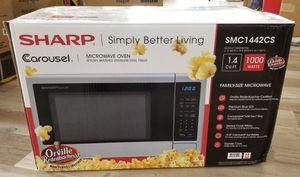 NEW Sharp 1.4 cu ft 1000 Watt Stainless Microwave: njft hsewres appliances for Sale in Burlington, NJ