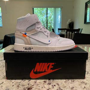 Nike Air Jordan 1 Off-White Size 9 for Sale in Pompano Beach, FL