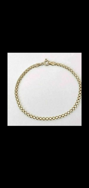 Vintage Sterling Silver .925 Unique Flat Link Chain Bracelet 7 1/4 long,GUARANTEED STERLING SILVER for Sale in Round Rock, TX