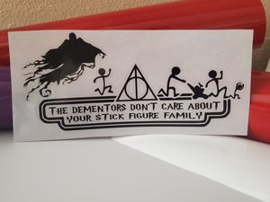 Harry Potter Stick Figure Family Car Decal for Sale in Keizer, OR