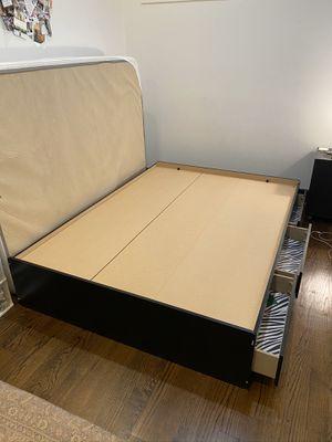 Black bed frame- Full size for Sale in Philadelphia, PA