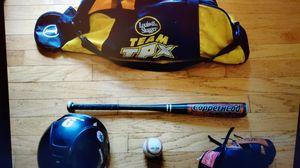 Set of baseball glove bat ball helmet and bag for Sale in Stockbridge, GA