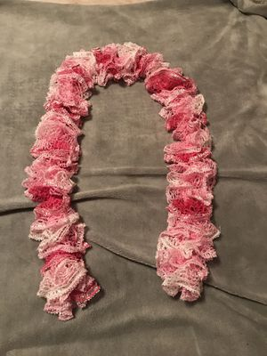 Pretty lace pink scarf for Sale in Suffolk, VA