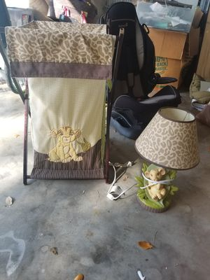 Disney Lion King Baby Simba Lamp, Hamper, Body Pillow, Ingenuity Swing, Crib Bumper for Sale in Orlando, FL