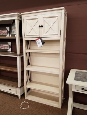 NEW ASHLEY 🔖 Bolanburg White/Oak Large Bookcase for Sale in Jessup, MD