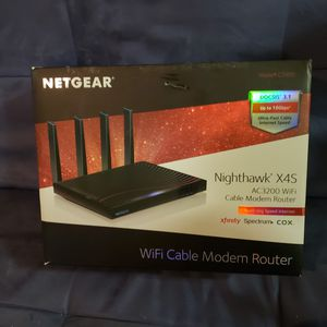 Exellent Used! NETGEAR Nighthawk X4S C7800-200NAS AC3200 Wireless Router Cable Modem for Sale in Fort Worth, TX