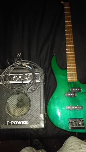 Ibanez bass guitar two tone color for Sale in Brookhaven, PA