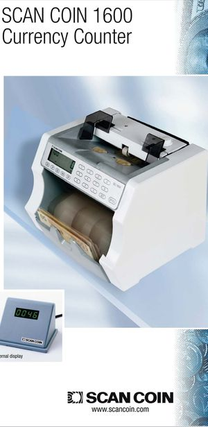 SCAN COIN 1600 CURRENCY COUNTER for Sale in Las Vegas, NV