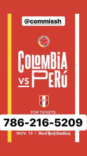 Colombia vs Peru for Sale in Miami, FL