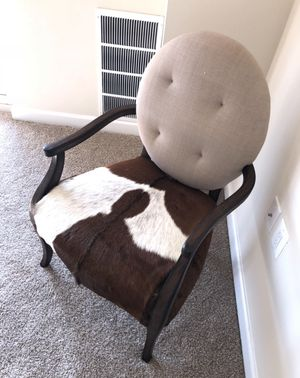 Cow leather beautiful elegant Chair for Sale in Alexandria, VA