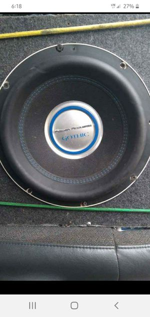 2500 watt 4ohm 12 inch gothic subwoofer and amp. for Sale in Owensville, MO