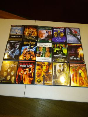 Lot of 15 dvd movies dvds new used Lord of the Rings Spider man Harry Potter for Sale in Hartford, CT