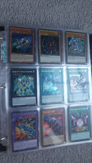 Yu-Gi-Oh binder holos secrets ultimates etc PT5 for Sale in Manassas, VA