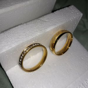 Set 2 Piece 18 K Gold Plated Wedding Ring, Size 11. for Sale in Dallas, TX