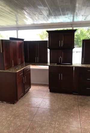 New Kitchen cabinets with marble top for Sale in West Palm Beach, FL