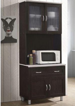 ⭐️New Hodedah kitchen cabinet in chocolate. P/U by ASHLAN AND TEMPERANCE IN CLOVIS for Sale in Clovis, CA