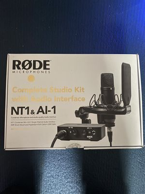 Complete studio kit Rode NT1A with interface for Sale in Tacoma, WA