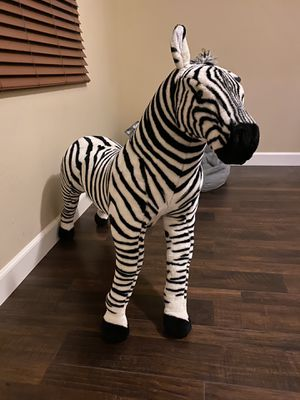 Large Stuffed Animal Zebra for Sale in National City, CA