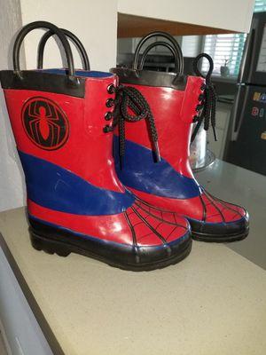 Kids spider man rain boots for Sale in El Cajon, CA