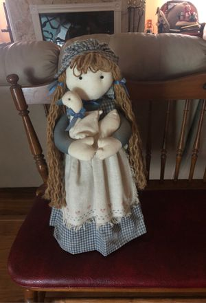 Adorable Girl with duck country doll for Sale in Punta Gorda, FL
