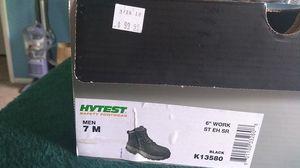 """HYTEST black 6"""" steel toe boots for Sale in South Salt Lake, UT"""