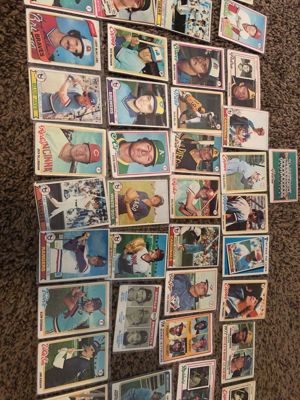 Over 40 baseball cards from late 70s
