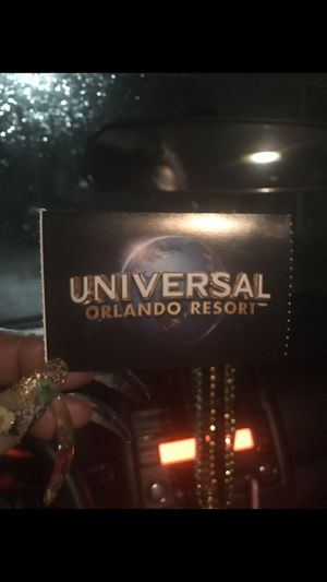 Never used Universal Studios pass for Sale in Jacksonville, FL