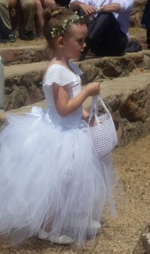 Flower girl tutu skirt white or different colors available and can be requested flower girl dress for Sale in Manassas, VA