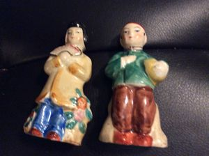 Retro salt and pepper Japanese couple for Sale in Ridgeway, WI