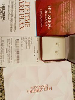 Helzberg Diamond 1/4 ct. Diamond 10k White Gold Earrings for Sale in Tulsa,  OK