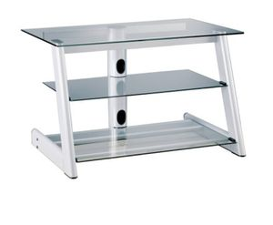 MOVING GLASS TV STAND WITH SHELVES for Sale in Miramar, FL