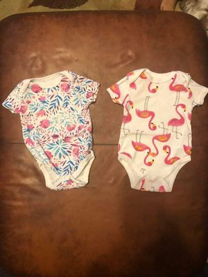 Cute girl onesies 3-6 months for Sale in Baltimore, MD