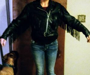 MOB Black Genuine Leather Coat for Sale in Bartlesville, OK