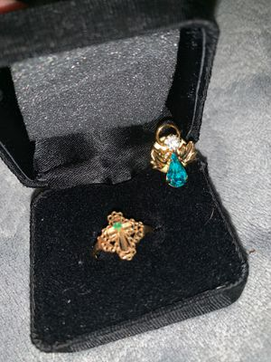 10k gold ring with angle pin for Sale in Bay City, MI