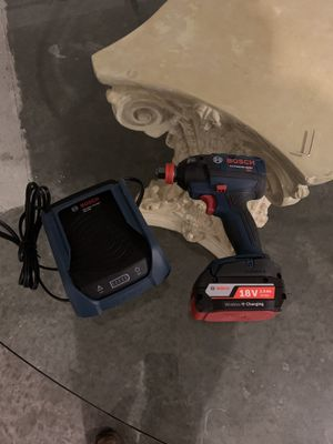 Bosch impact wrench with charger and 1 battery 4.0 AH for Sale in Nashville, TN