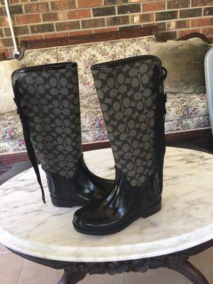 Coach rain boots size 6 1/2 for Sale in Smyrna, TN