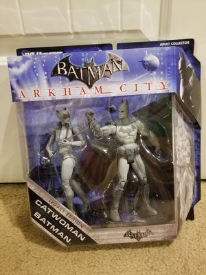 Batman & Catwoman Arkham City 2 pack of action figures for Sale in Social Circle, GA