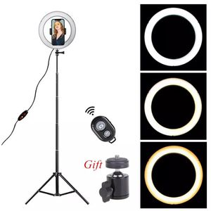 Dimmable LED Ring Light 8.6 inch Camera Ringlight Tripod Stand Cell Phone Holder For YouTube Photography Photo Video Studio Kit for Sale in Hollywood, FL