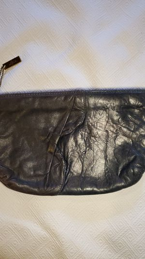 VINTAGE LATISSE DARK BLUE & CHARCOAL GRAY SOFT LEATHER CLUTCH for Sale in Middleburg Heights, OH