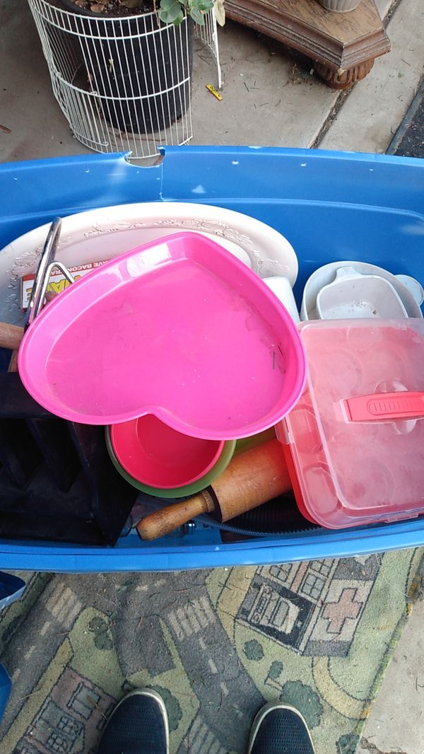 Large Tote Full of Kitchen Items