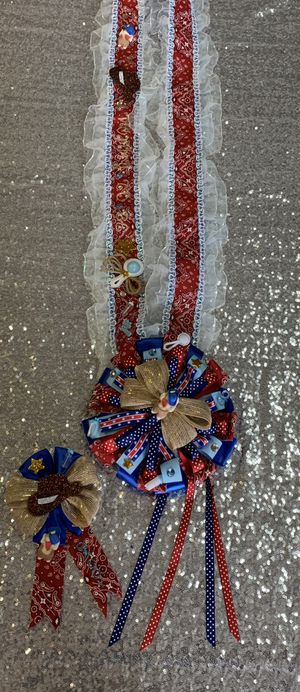 Baby shower sash, mommy to be sash, mommy and daddy to be sash set, cowboy theme baby shower sash, baby shower corsage for Sale in Fountain Valley, CA