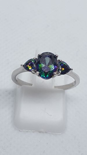 Brand new. Sizes 6, 7 and 8 available. Rainbow topaz rings. Solid 925 sterling silver. for Sale in St. Louis, MO