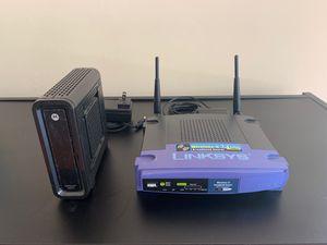 Linksys 2.4 GHz Router + Motorola Modem!! for Sale in Jacksonville, FL