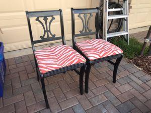 Bassett Side Chairs with Zebra Print for Sale in Stuart, FL