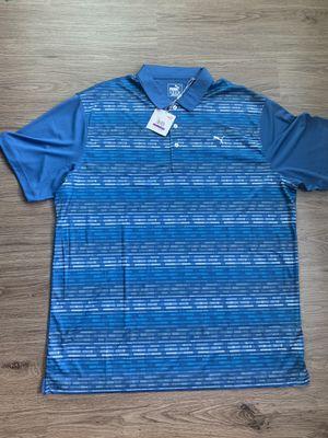 "Mens Large Puma Golf ""Gotime"" True Blue Polo   XXL for Sale in Dallas, TX"