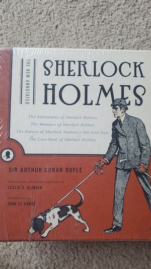 Sherlock Holmes book set, the new annotated by Sir Arthur Conan Doyle for Sale in San Jose, CA