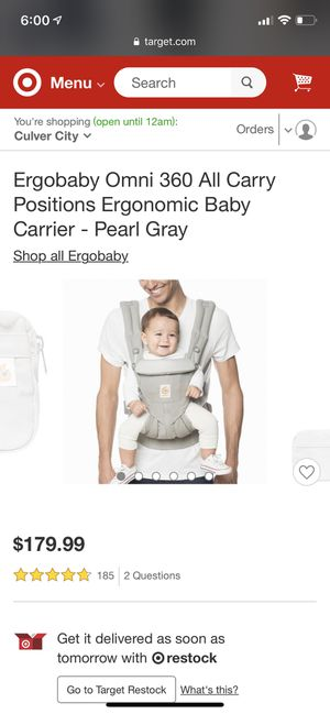 Baby carrier Ergobaby for Sale in Los Angeles, CA
